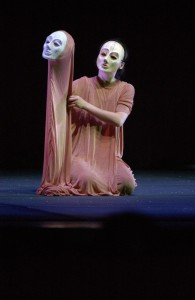 "Hua Hua Zhang, a UConn puppetry graduate, performs in ""Butterfly Dreams"" a puppetry performance at von der Mehden recital hall."